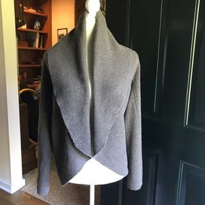Aqua Cashmere Cardigan  Grey Sz Small -Large